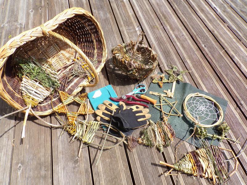Paniers et objets en osier