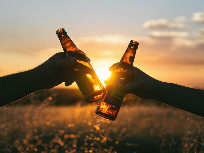 Convivialité à la fête de la bière